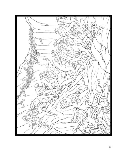 Dante's Inferno: The Coloring Book image 10