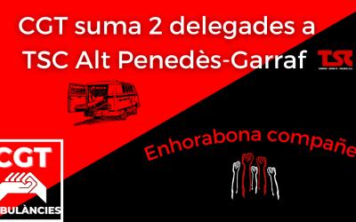 CGT treu dues delegades a les eleccions de TSC Alt Penedès-Garraf