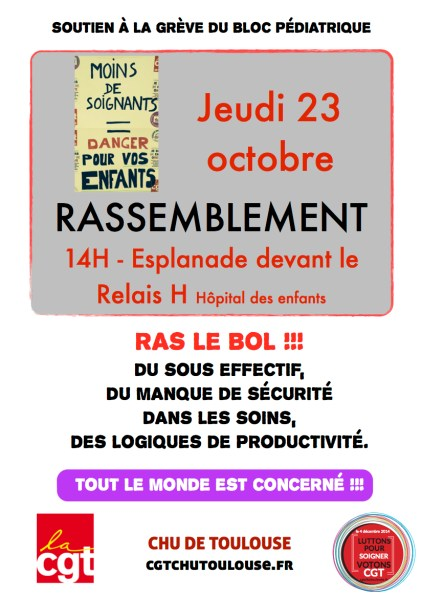 affiche Bloc 23 octobre