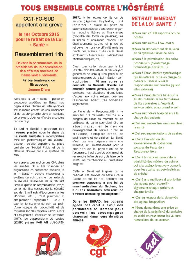 tract intersyndical 1er octobre
