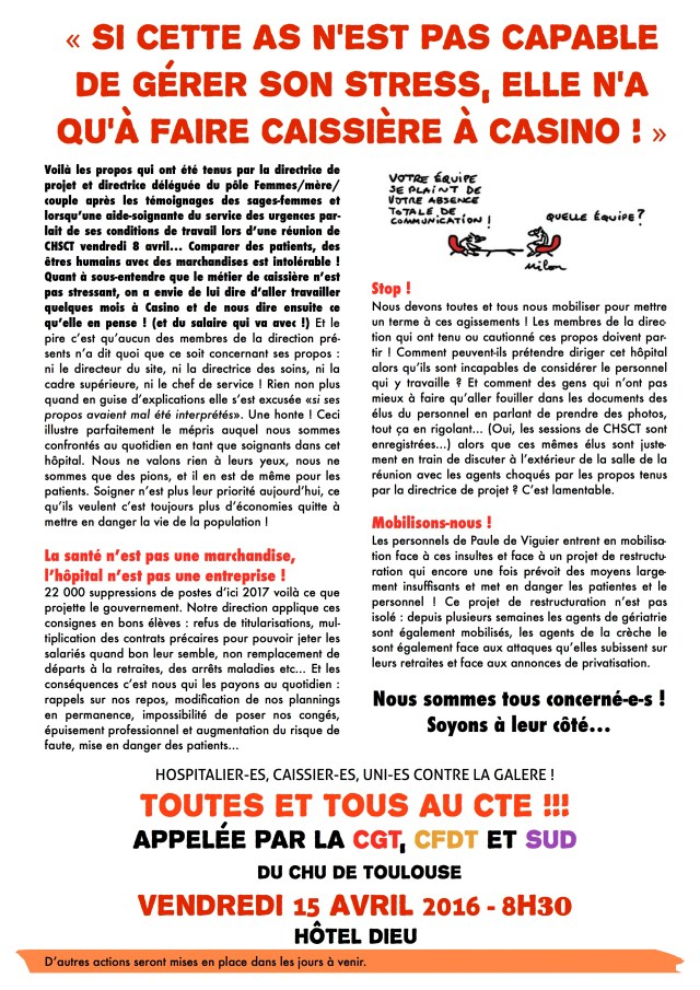 tract caissière