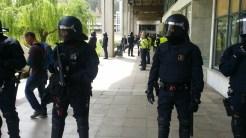 Desplegament dels mossos d'esquadra dues hores més tard