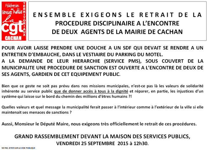 Tract Sanction Agents Cachan
