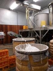 Inside a sake brewery