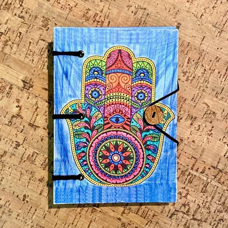 Hamsa Parchment Journal
