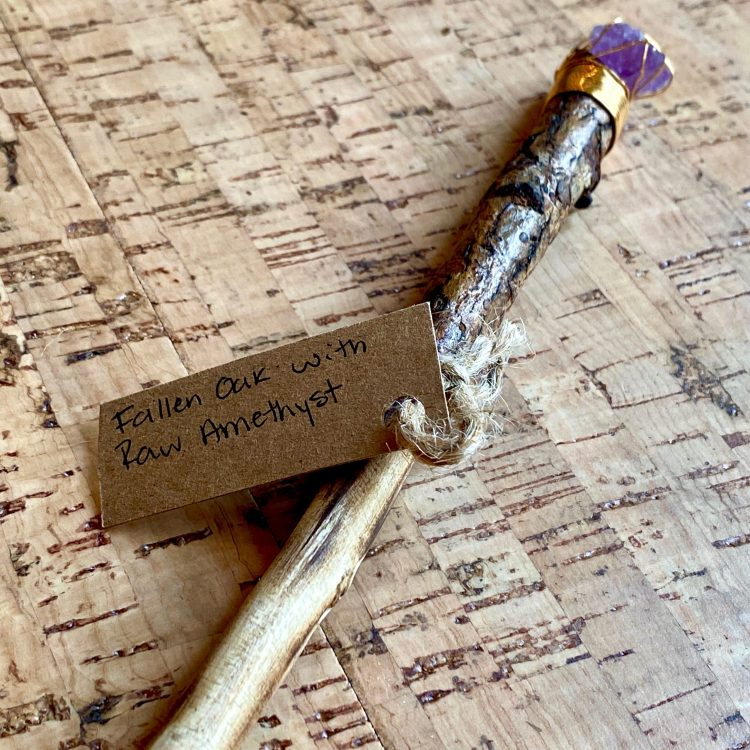 Wand - Oak + Amethyst