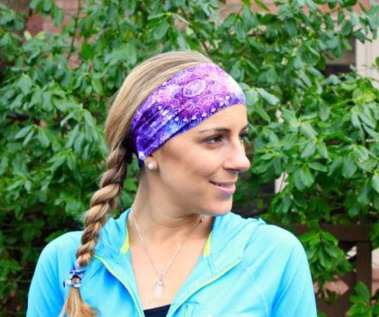 Yoga Headband - Purple Blue Nebula