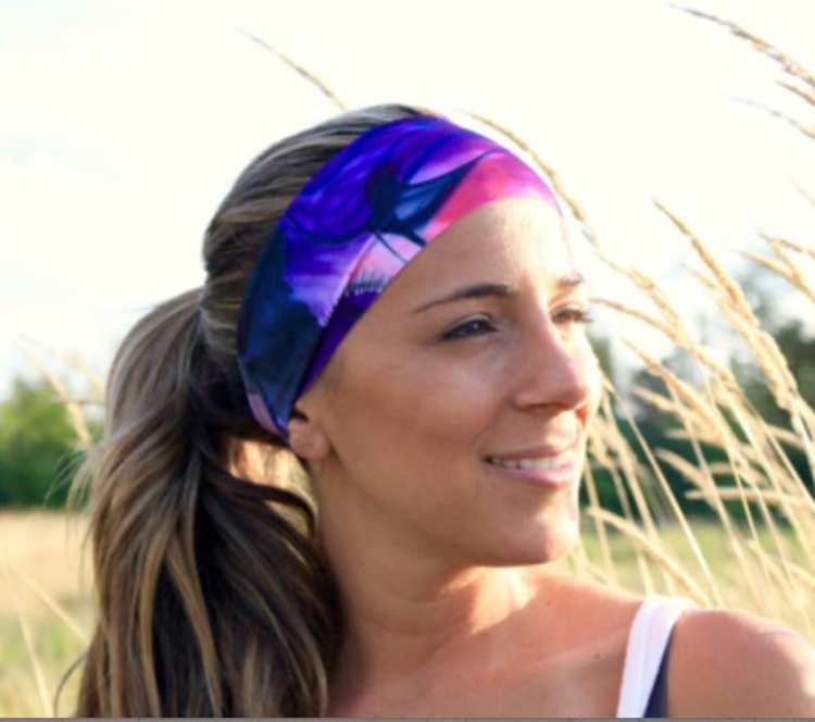 Yoga Headband - Pink Ink