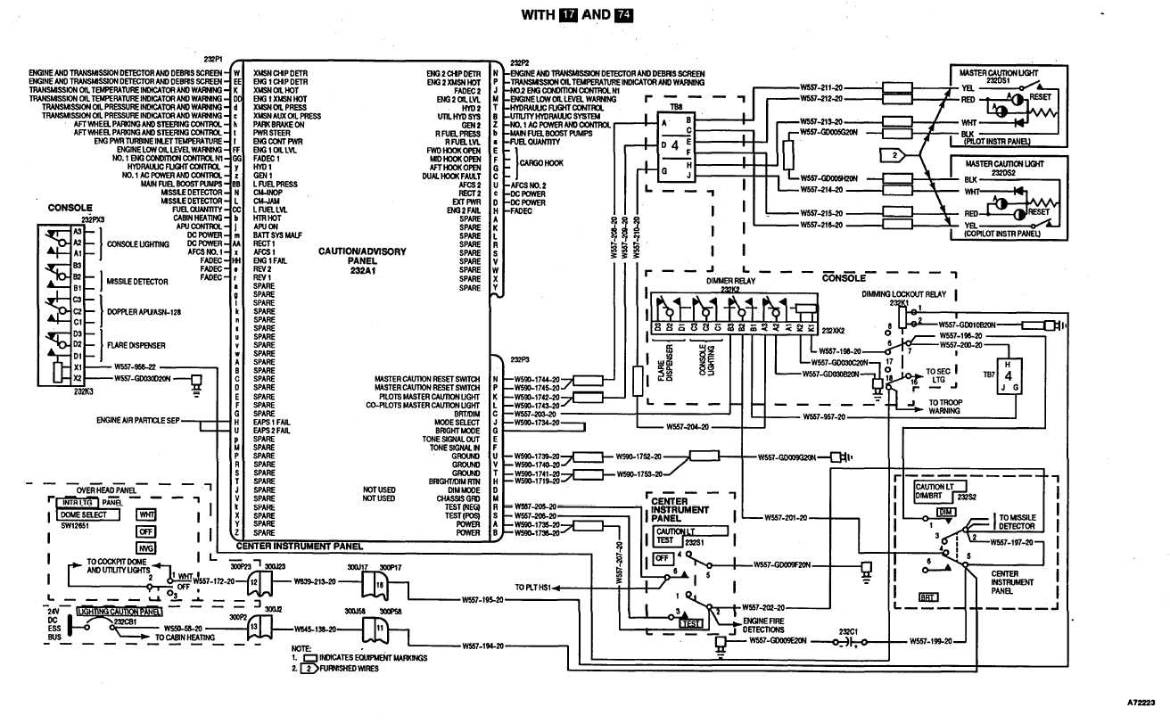 Master Caution Lights Wiring Diagram Continued