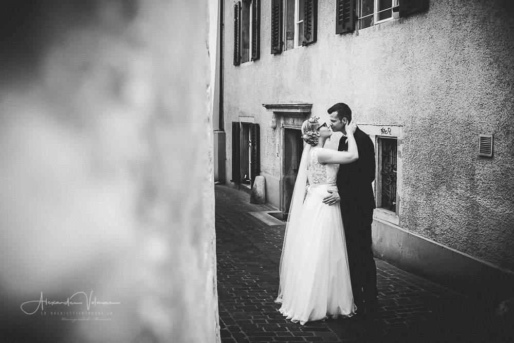 Schwarz Weiss Aufnahme Altstadt Olten - Hochzeitsfotograf