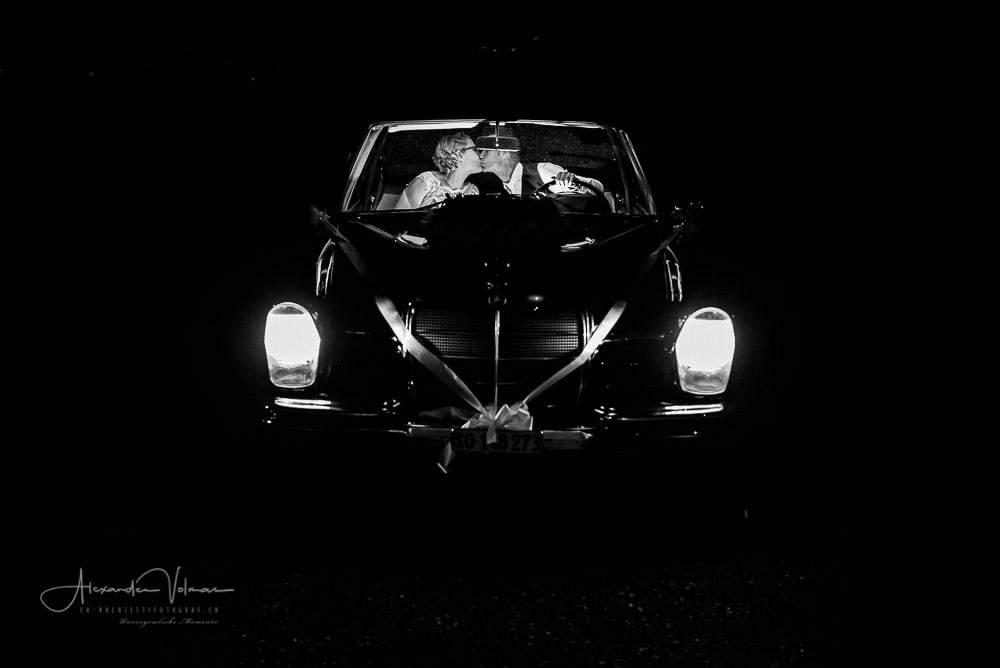Mercedes Fotoshooting auf Blüemlismatt Blitz