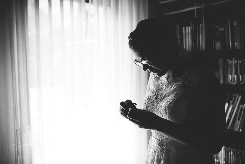 Silhouette Braut
