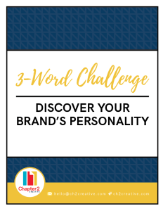 3-Word Challenge - Discover Your Brand's Personality | Chapter 2 Creative