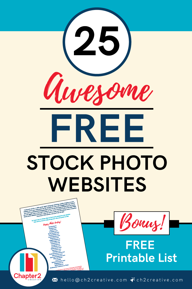 25 Awesome Free Stock Photo Websites | Chapter 2 Creative Branding + Design