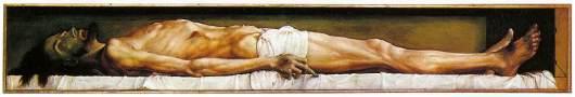 Hans HOLBEIN (1497-1543) Le Christ mort 1521 Huile sur bois