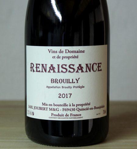 Domaine Marcel Joubert Brouilly 'Cuvée Renaissance' 2017