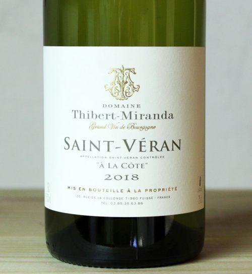 Domaine Thibert-Miranda Saint-Véran 'A La Cote' 2018