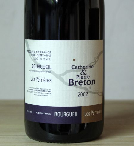 Catherine et Pierre Breton Bourgueil 'Les Perrières' 2002