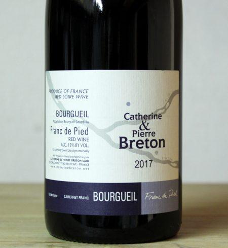 Catherine et Pierre Breton Bourgueil 'Franc de Pied' 2017