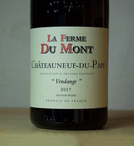 La Ferme du Mont Chateau neuf-du-pape Vendanges 2018