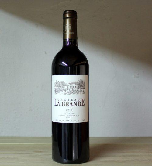 Château La Brande Castillon 2016 full bottle