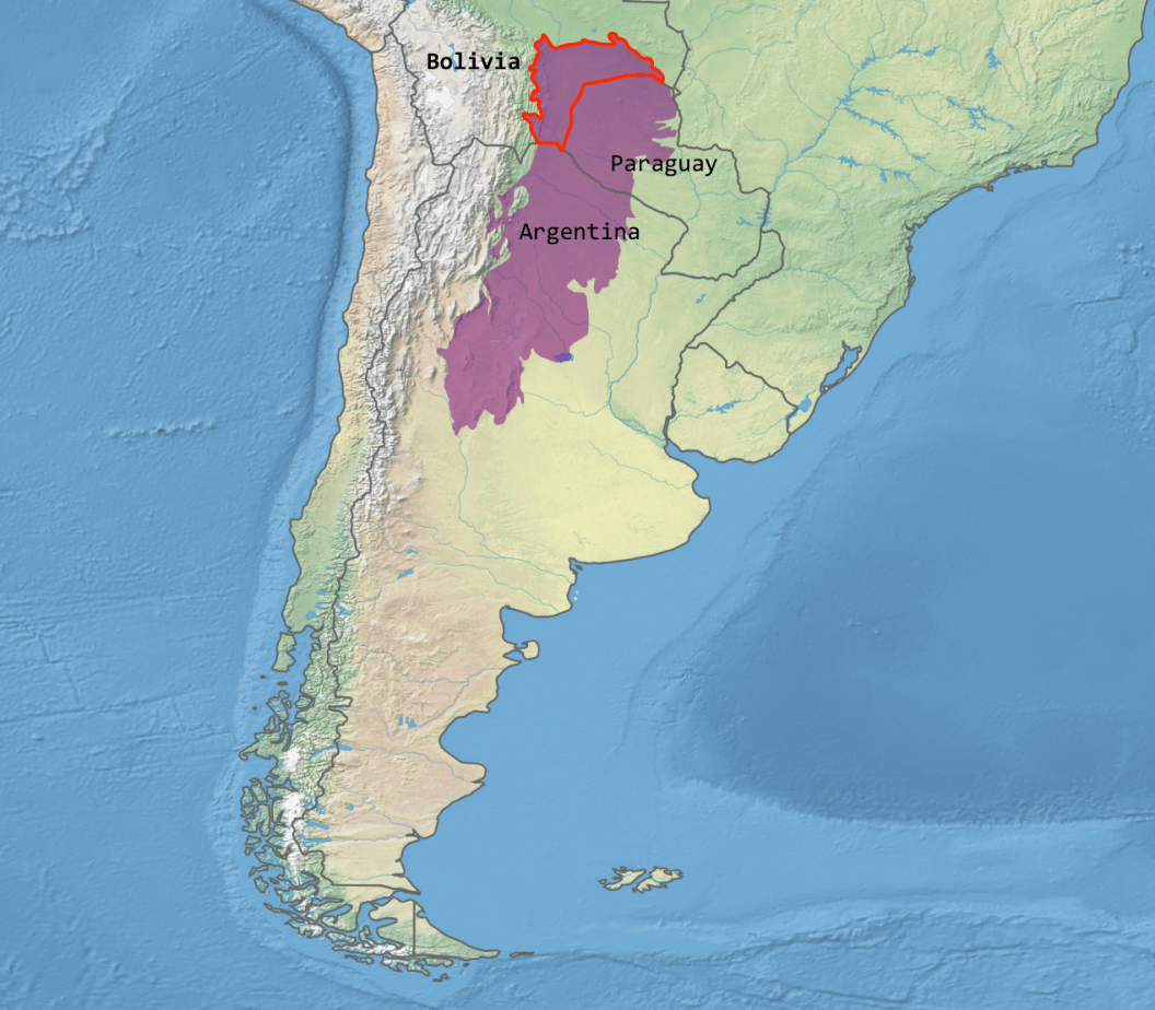A map of the Chaco eco-cultural region