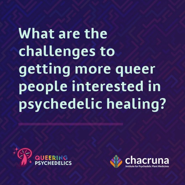 What are the challenges to getting more queer people interested in psychedelic healing?