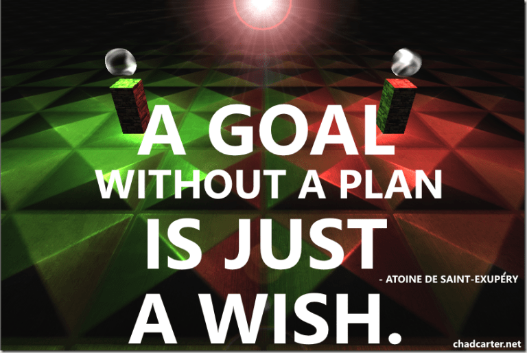 Goals: A goal without a plan is just a wish