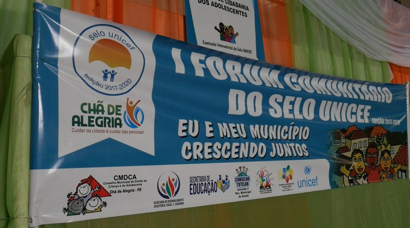 Chã de Alegria realiza I Forúm Comunitário do Selo UNICEF