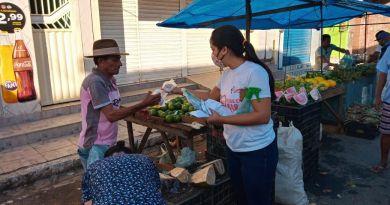 Secretaria de Saúde realizou ação contra o Covid-19 na feira livre de Chã de Alegria