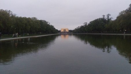 Lincoln from the far end of the reflecting pool
