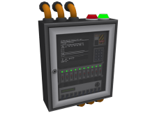 Security Control Panel: Simple design. Mesh only, Simple materials.