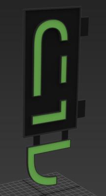 30-minute signage concept mockup.