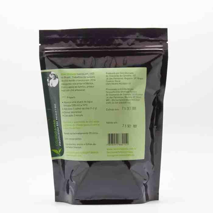 Chá Verde Orgânico 100g   Sítio Shimada