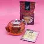 Bule Isabel 600ml + Chá Oolong Amaya 100g + Chá Verde em Pó Amaya 40g