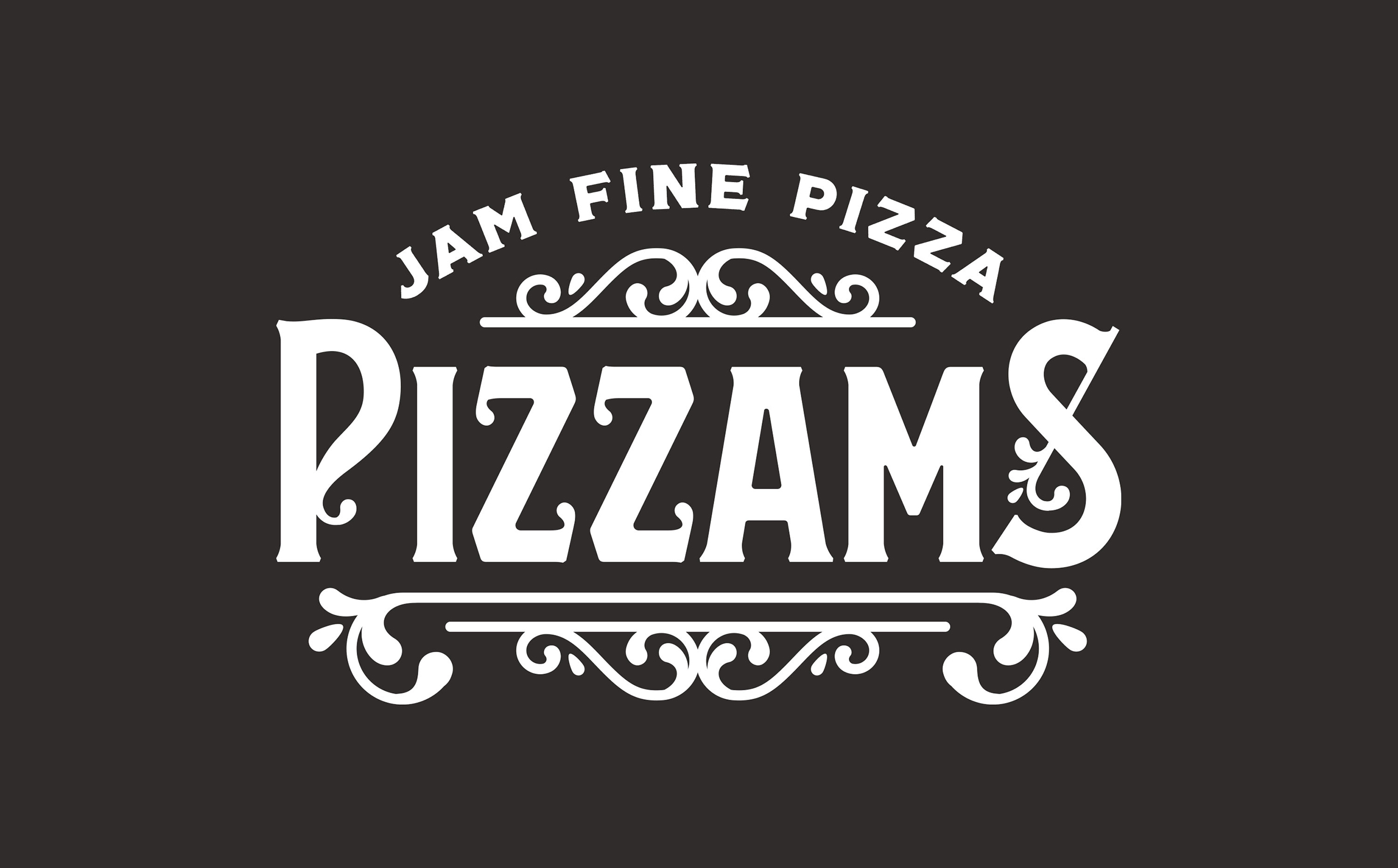 Chad Roberts Design Ltd. Pizzams Brand Identity Design