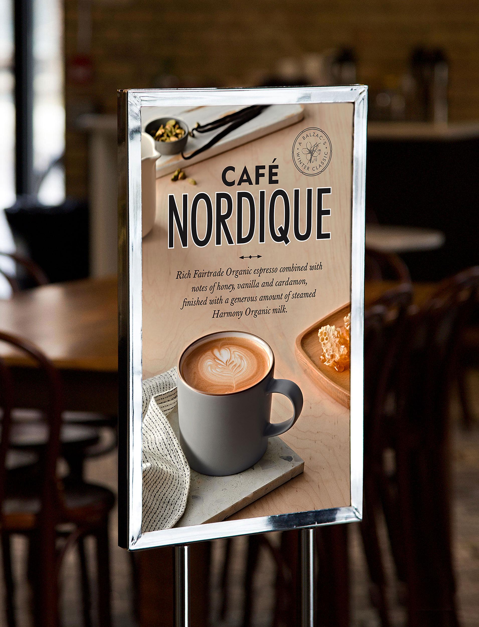 Chad Roberts Design Ltd. Balzac's Coffee Roasters Brand Identity Design Marketing Collateral