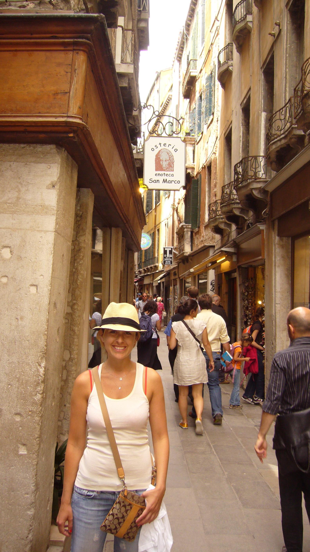 Sasha outside the restaurant