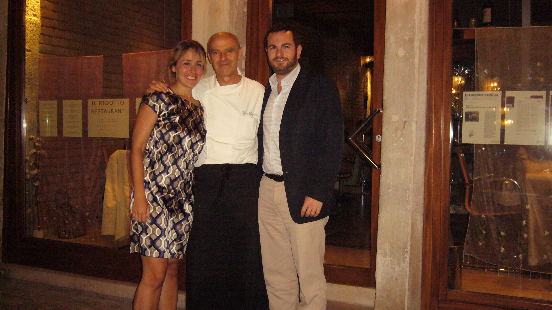 Chad and Sasha with master chef/owner Gianni Bonaccorsi