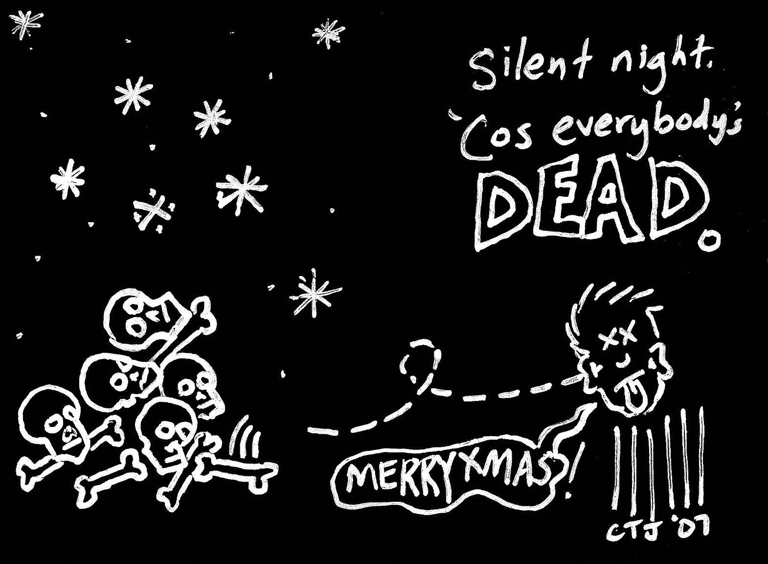 Original Christmas Card 4 Silent Night Cos Everybodys