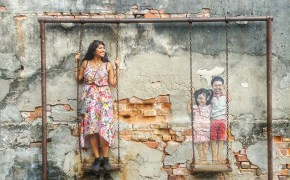 Street Art Penang Swing