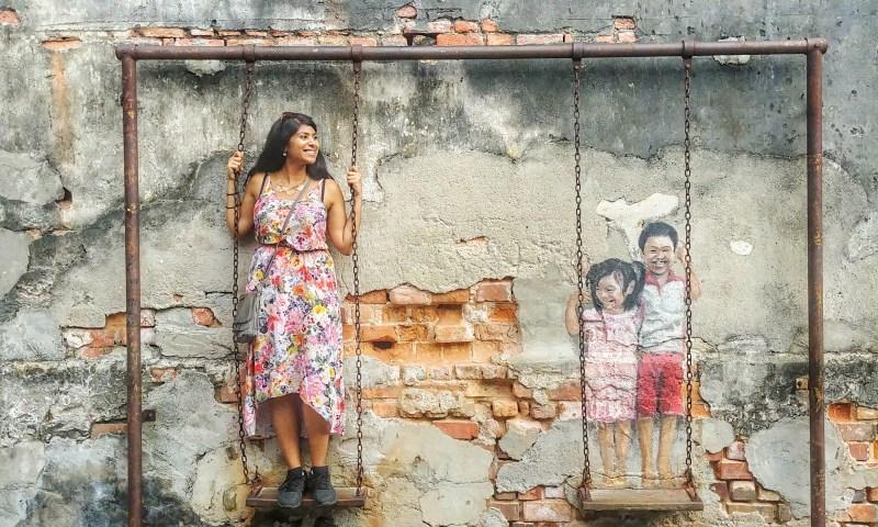 Street Art Penang Swing
