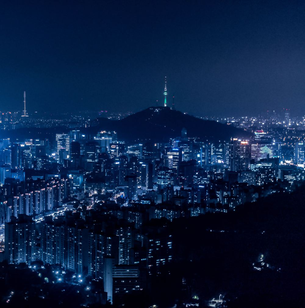 Seoul City by night