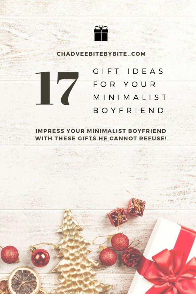 gifts for minimalist boyfriend
