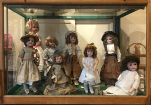 One of our cases of dolls