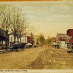Color postcard of Main St.