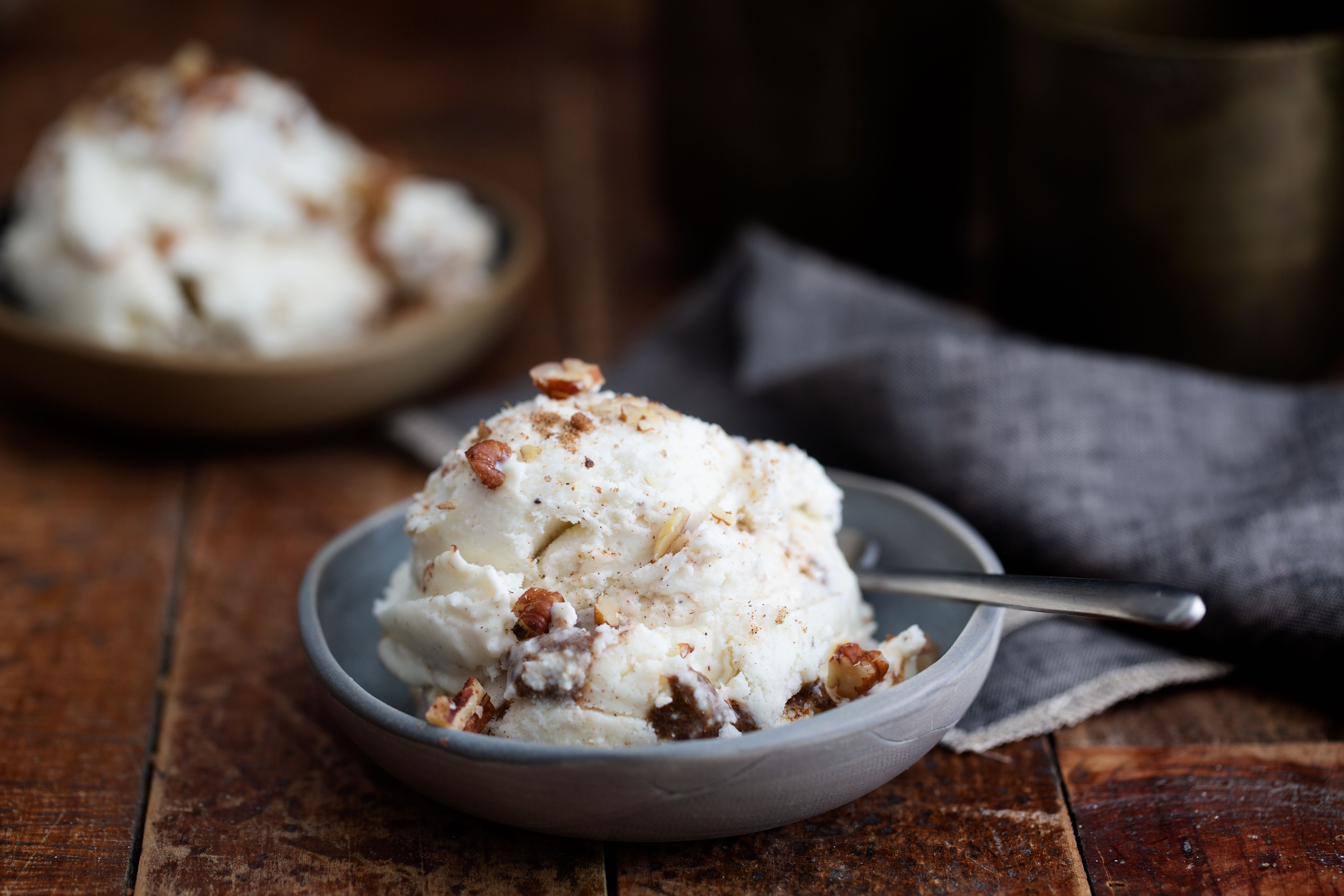 Chai Ice Cream With Chai Spiced Nuts