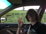 Chelsea & some cows. Road trips are the best.