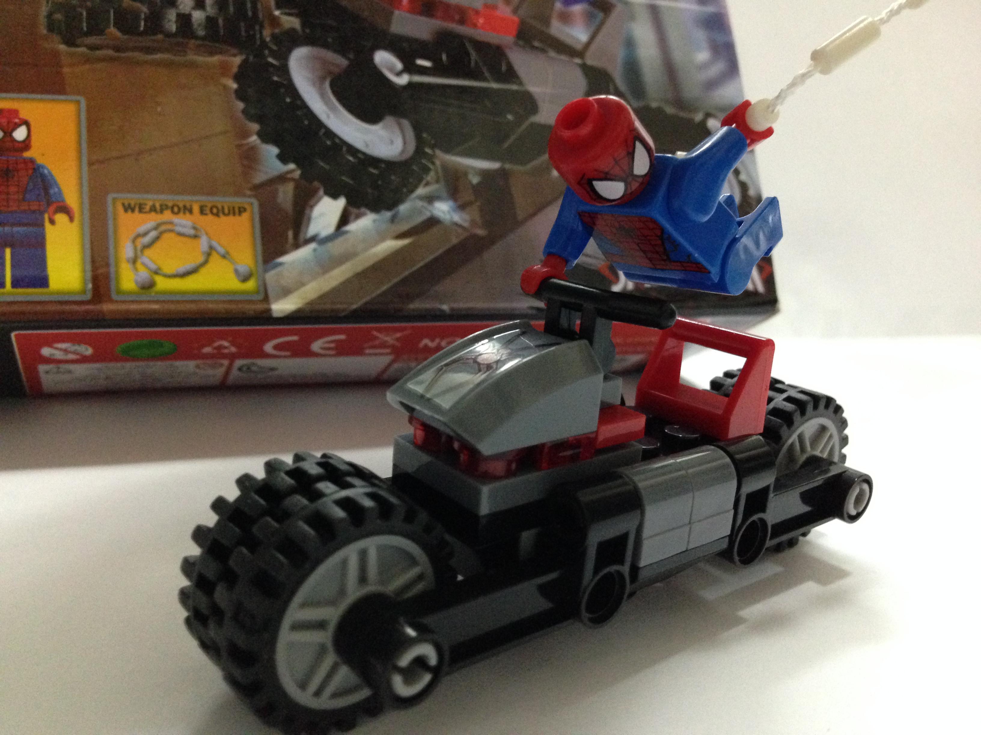 A005H Super Heroes系列 蜘蛛俠車 連蜘蛛俠 | ★ 齊齊砌 ★