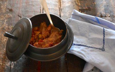 Cocotte de porc à la soubressade et à la frita